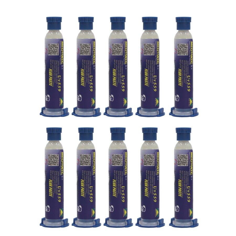 10pcs lot Mechanic soldering flux paste NC-559-ASM Flux paste lead-free solder flux   Needles Welding Advanced Oil Flux Grease