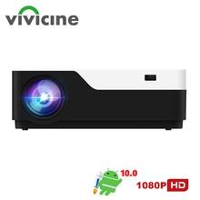 Vivicine M18 1920X1080 gerçek Full HD projektör, HDMI USB PC 1080p LED ev multimedya Video oyunu projektör projektör desteği AC3