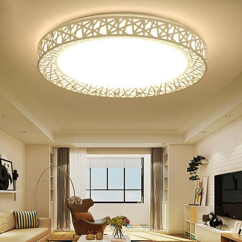 LED Ceiling Light Bird Nest Round Lamp Modern Fixtures For Living Room Bedroom Kitchen