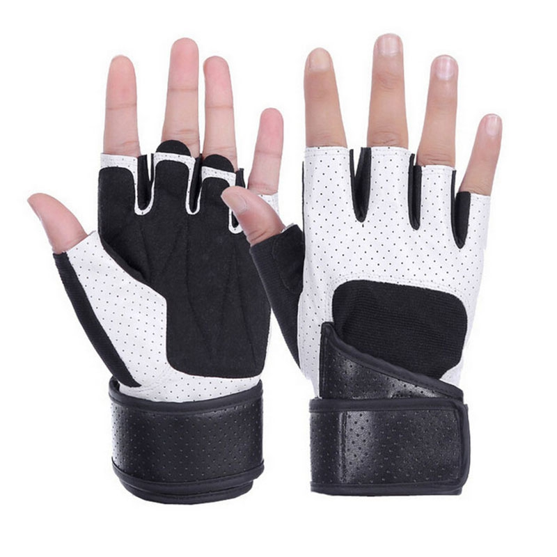 Fitness Gloves Half Finger Men And Women Non-Slip Breathable Wear Weightlifting Dumbbell Equipment Sports Equipment Long Wrist G