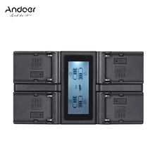 Andoer NP F970 4 Kanaals Digitale Camera Batterij Oplader w/Lcd scherm voor Sony NP F550 F750 F950 NP FM50 FM500H QM71