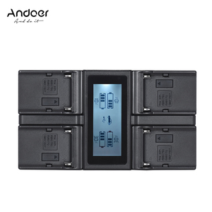 Image 1 - Andoer NP F970 4 ערוץ דיגיטלי מצלמה סוללה מטען w/LCD תצוגה עבור Sony NP F550 F750 F950 NP FM50 FM500H QM71