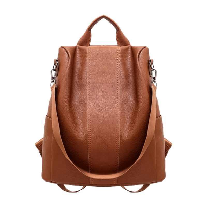 1 adet Oxford kumaş anti-hırsızlık omuzdan askili çanta büyük kapasiteli kadın sırt çantası su geçirmez rahat Kawaii okul çantalarını seyahat alışveriş sırt çantası