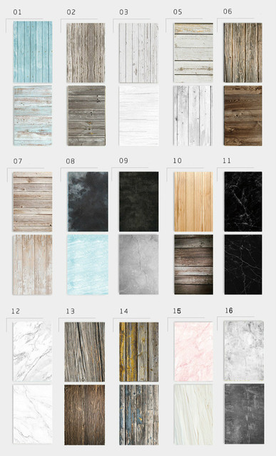 [Buy 4 Free 1] 57X87cm Photography Marbling Backdrop 2 Sided Photo Background Wood Grain Waterproof Backdrops Paper Studio Photo 3