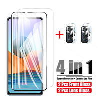 4 in 1 Gehärtetem Glas Für Xiaomi Redmi Hinweis 10 Pro Note 10S 10 5G Screen Protector Kamera objektiv Film Für Redmi Hinweis 10 Pro Glas