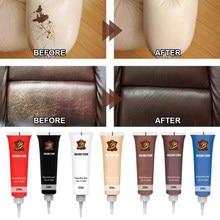 20ml Car Leather Filler Repair Cream Vinyl Repair Filler Scratch Restoration Cracks Rips Liquid Skin Cleaner Refurbishing Cream