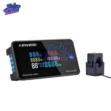 Mini LCD voltímetro con pantalla amperímetro AC 50-300V 100A 10A voltaje actual probador de la temperatura del Detector de voltímetro de pantalla LED con C