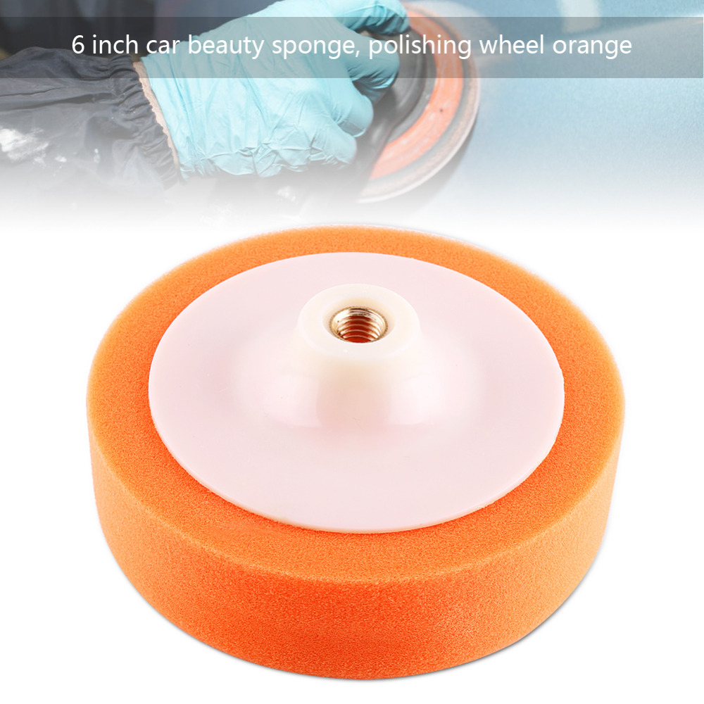15cm Car Polishing Pad Sponge Polishing Home DIY Buffing Waxing Pad Wheel Orange Tools Accessories Car Washing Tools Accessories
