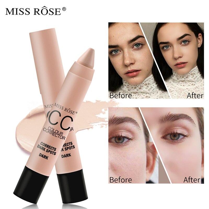 MISS ROSE Whitening Brighten Face CC Cream Lasting Moisturizing Oil Control BB Concealer Korean Highlighter Pen Makeup Tool