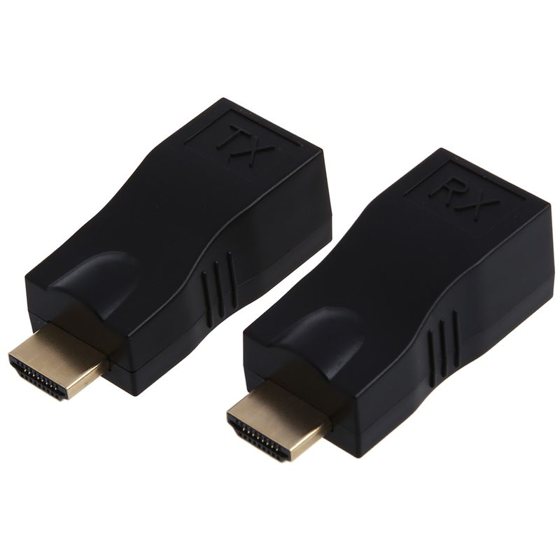 4K HD 1080P 3D HDMI Extender Over A Dual RJ45 Cat 5e / 6 Ethernet Network Adapter
