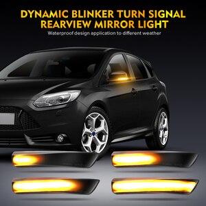 Image 2 - 2pcs Dynamic Turn Signal Light LED Side Wing Rearview Mirror Indicator Blinker Light For Ford Focus 2 3 Mk2 Mk3 Mondeo Mk4