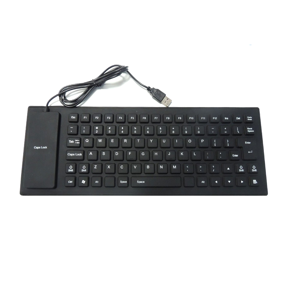 85Key USB Mini Flexible Silicone Folding PC Wired Keyboard For Notebook Foldable Portable Wired English Keyboard Environmentally