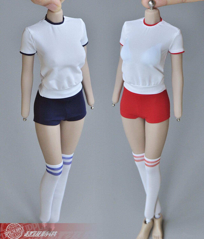 JOA-25 1//6 Female Casual Sling Shirt Pants Clothes Suit Model for 12/'/' Figure