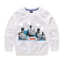 Thomas และ Friends เด็กเสื้อผ้าเด็กเสื้อผ้าฤดูใบไม้ร่วงและฤดูหนาวใหม่ bottoming เสื้อบางส่วนผ้าฝ้าย