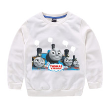 Thomas and Friends Girls boy  Clothing Sweater childrens clothing autumn and winter new bottoming shirt thin section of cotton