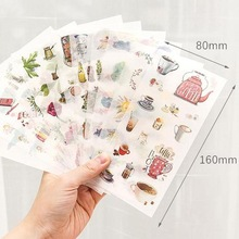 Sticker Flakes Stationery Art-Supplies Kawaii 6pcs/Set