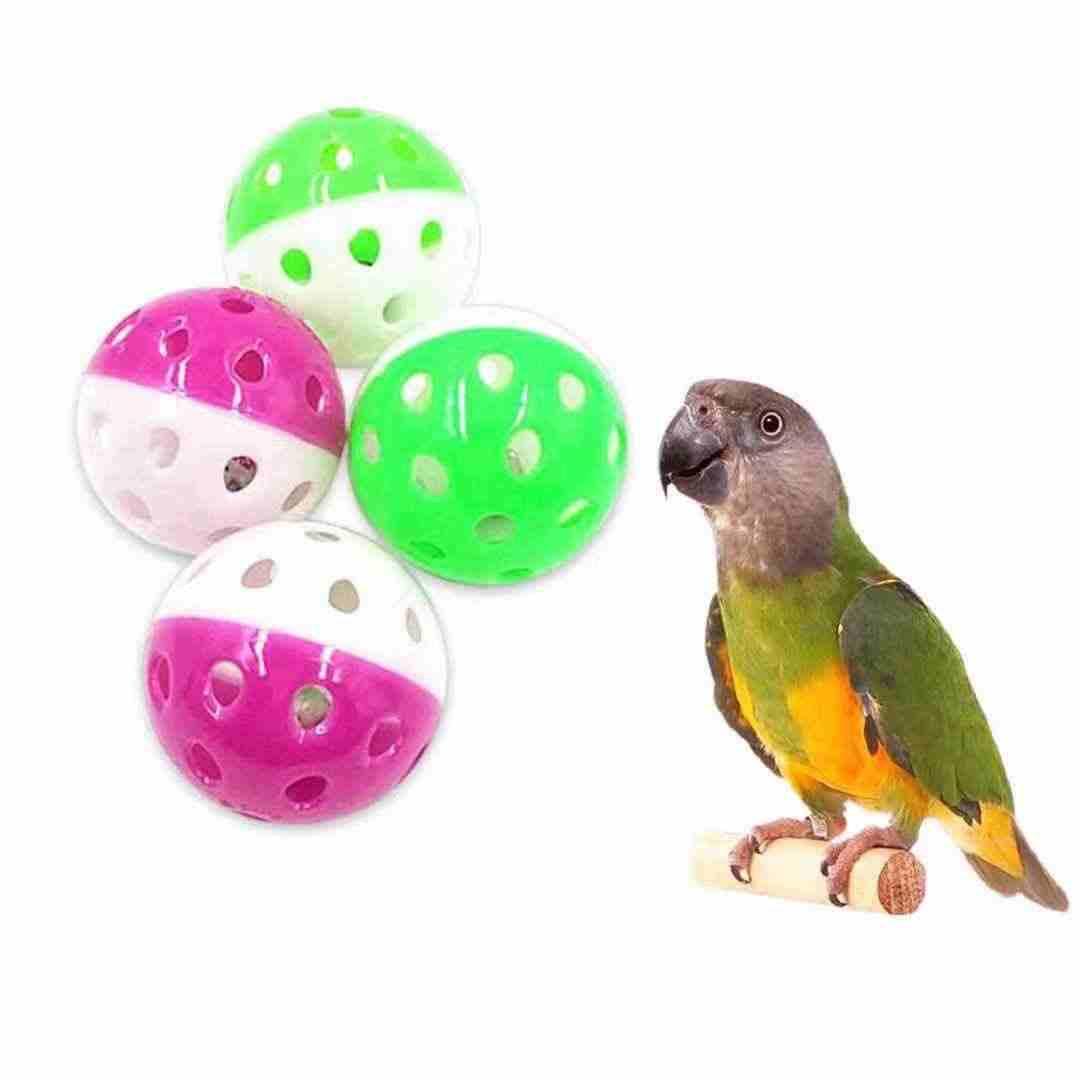 1 個カラフルな鳥のおもちゃ歯をかむかむストランド Griding ボールベル魅力的なオウムのおもちゃオウムケージわら鳥用品