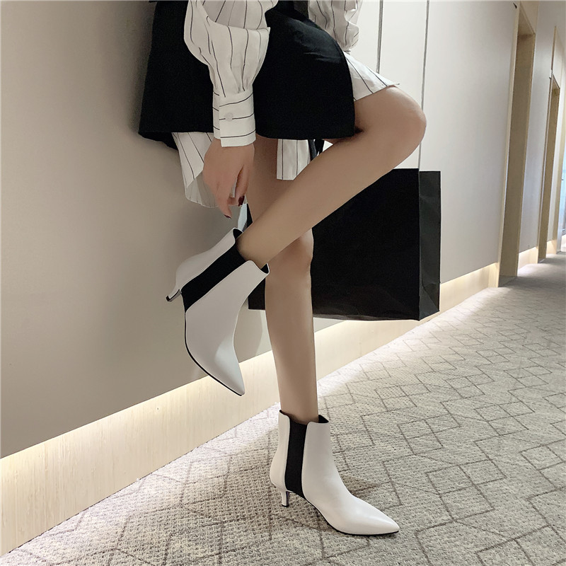 Image 4 - FEDONAS Brand Elegant Ladies Thin Heels Party Prom Shoes Woman Winter Warm Plus Size Chelsea Boots Fashion Women Ankle Boots-in Ankle Boots from Shoes