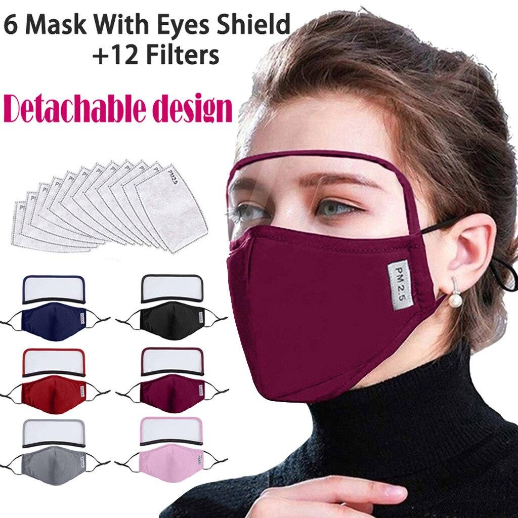 Многоразовая моющаяся Пылезащитная маска для лица с защитой для глаз и фильтров, модный дизайн|Маска для велоспорта| | АлиЭкспресс