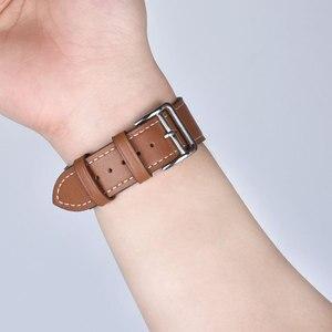 Кожаный ремешок для iWatch 40 мм 44 мм, спортивный тур-браслет для Apple watch 42 мм 38 мм Series 2 3 4 5 6 SE