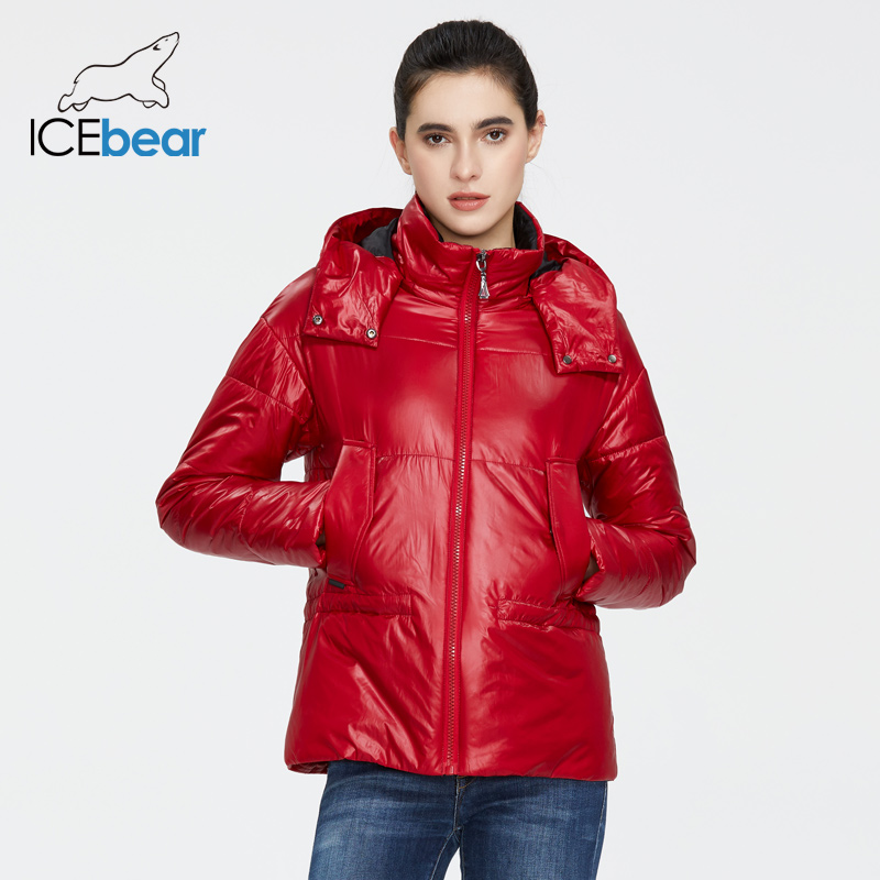ICEbear 2020 New Women Spring Jacket Women Short Coat Women Clothing With Hood Quality Casual Wear GWC20011I