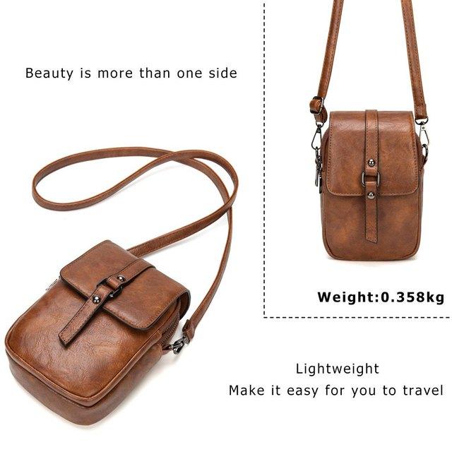Blødt læder skulder taske