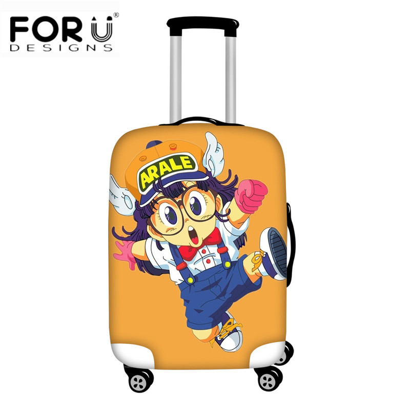 FORUDESIGNS Travel Luggage Cover Anime Cartoon Dr.Slump Arale Print Elastic Suitcase Protective Cover For Cute Girls Trunk Cases