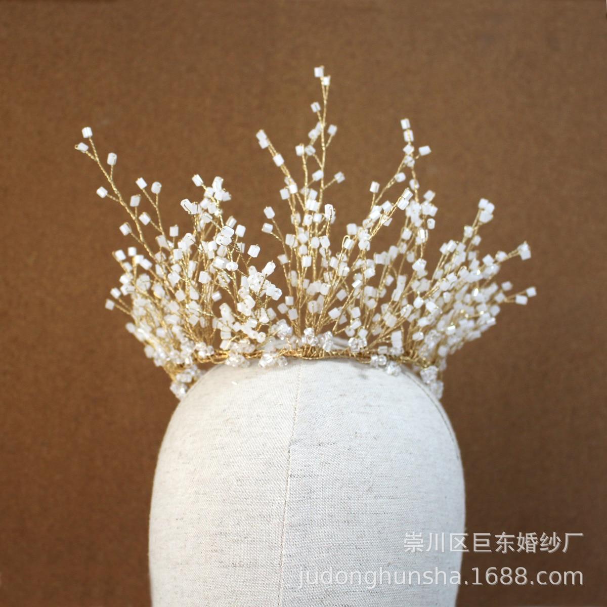 Leliin or mariée cheveux diadème couronne mariage cheveux casque cristal cheveux Barrette mariée épingles à cheveux bijoux de cheveux