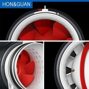 Image 5 - 6 Ultra Silent Ventilator Smart Inline Duct Fan 220V with Humidistat Timer Bathroom Ventilation Fans with Sensor Controller