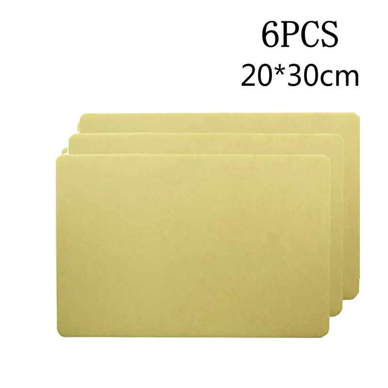6pcs 20*30*0.3cm Tattoo Practice Fake Skin Sheet Double Side Blank Tattoo Practice Skin Skin Practice Big Size Practice Skin