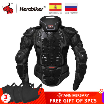 HEROBIKER kurtki motocyklowe pancerz motocyklowy wyścigi ochrona na nadwozie kurtka motocross motocykl ochronny sprzęt + ochraniacz szyi tanie i dobre opinie MC1008-5D NYLON Full Body Armor Protection Guard Protective Gear Protector Motorcycle Motocross Off-Road Cross-country ATV Dirt Bike