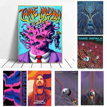 Tame Impala Psychedelic Rock Music Band Tour Poster And Prints Art Canvas Painting Wall Pictures For Living Room Home Decor image