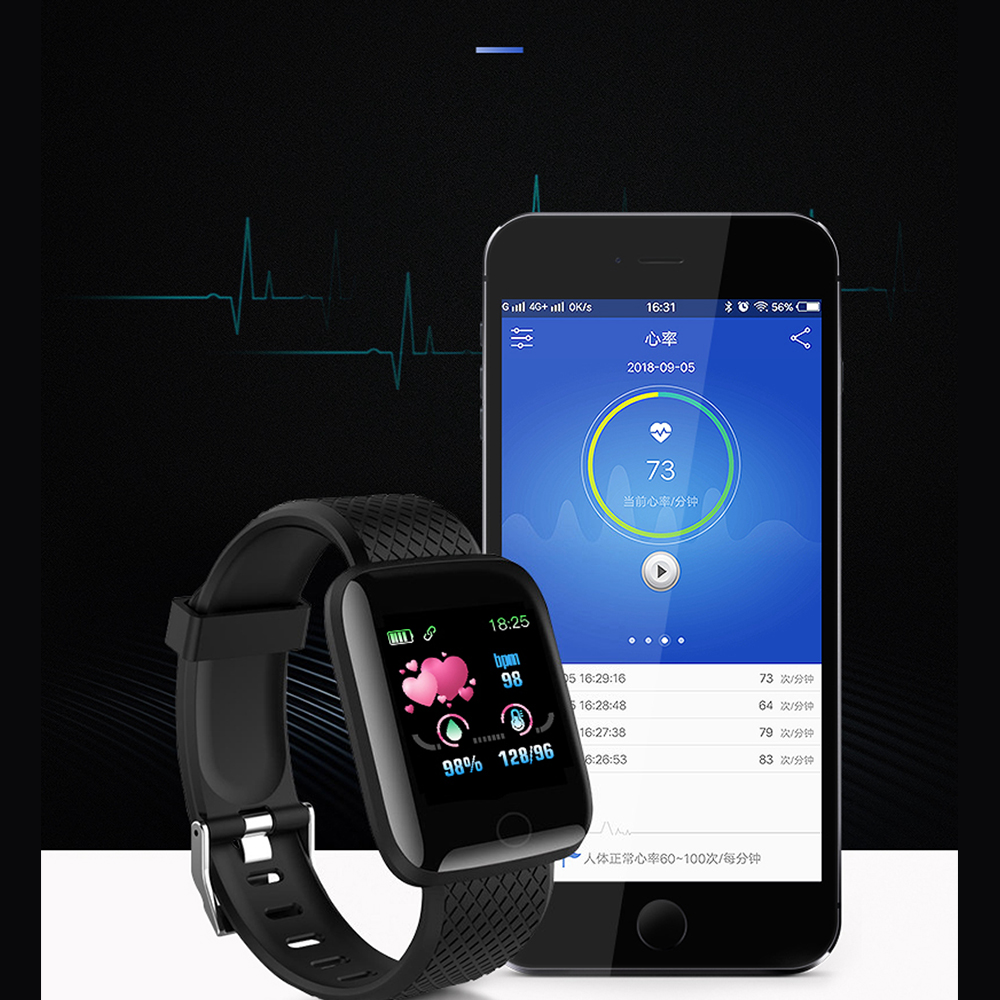 Smart Watch Heart Rate Smart Wristband Sports Watches Smart men women Waterproof Smartwatch for Android iOS Rogbid D13 116 plus 3