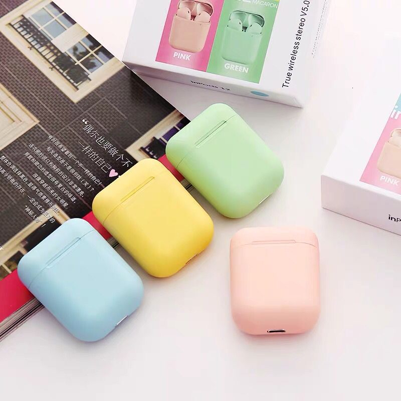 Original Inpods 12 I12 Tws Earphones Portable Mini Earbuds Bluetooth 5.0 Touch Model 3D Stereo Cute Color For Fashion Girl Boy