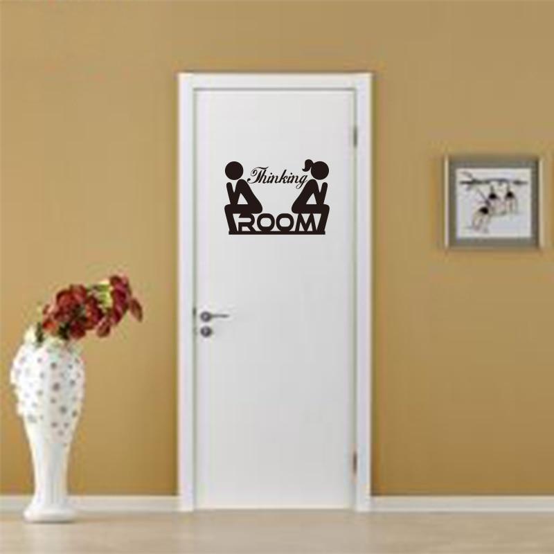 Funny Toilet Door Stick Man Woman Vinyl Sticker Decal Sign Art 25 Colours