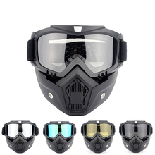 Goggles Mask Helmets Motorcycle Vintage Open-Face Modular Perfect And for Detachable