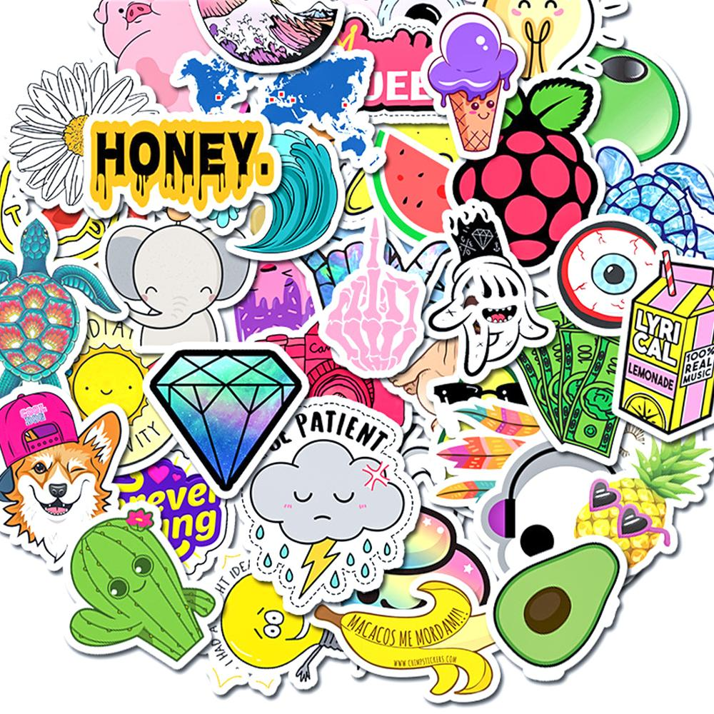 50pcs Cartoon Simple VSCO Girls Kawaii Stickers For Kids Stickers DIY Letter Diary Scrapbooking Stationery Pegatinas Mobile Phon