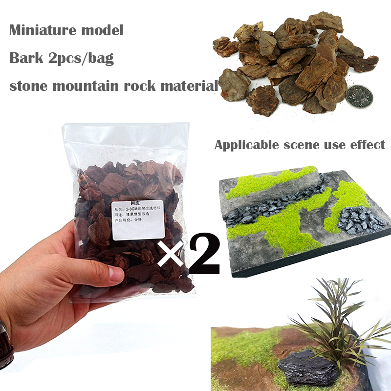 Miniature Model  Bark Stone Mountain Rock Material  World War II Scenario  Sand Table Materials For DIY Model Platform Scene