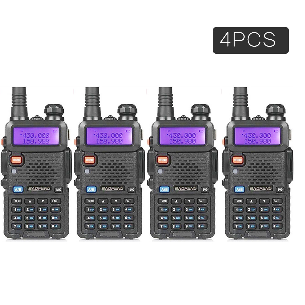 HF Transceiver Walkie-Talkie Two-Way-Radio Pofung Baofeng uv-5r Uv 5r Dual-Band 4PCS