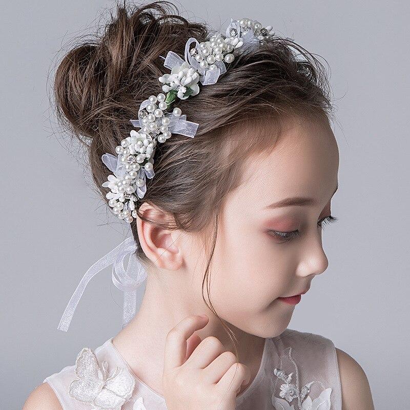Головной убор в форме гирлянды для детей в стиле «Mori женский молочно-белого цвета с цветочным узором глава красивые ручной работы с цветочн...