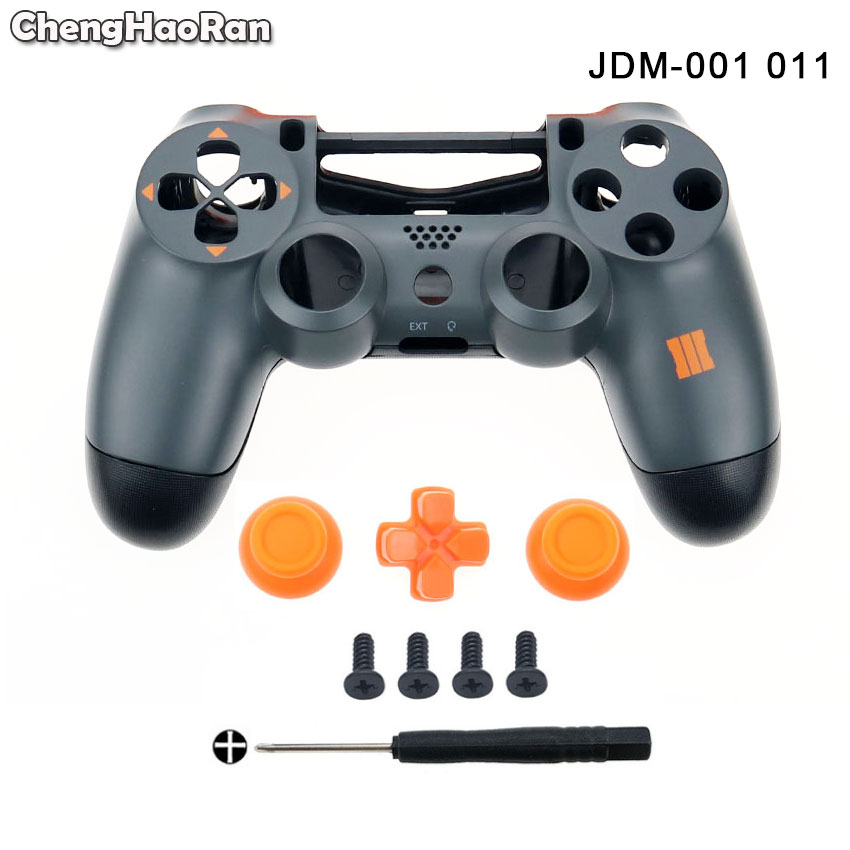 ChengHaoRan Housing Shell Thumbsticks Cap Dpad For DualShock 4 PlayStation 4 <font><b>PS4</b></font> V1 JDM-001 011 Controller <font><b>Case</b></font> Cover Screws image