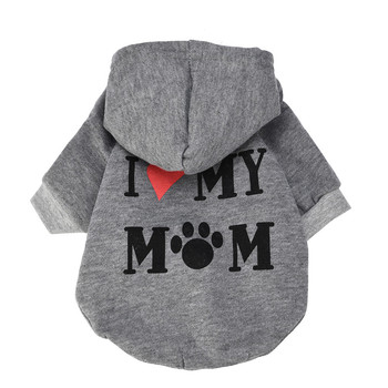 Dog Sweater Small Pet Dog Clothes Fashion Costume Puppy Cotton Blend T-shirt Apparel Imy Mom Small Dog Teddy Plush Hooded Pet image
