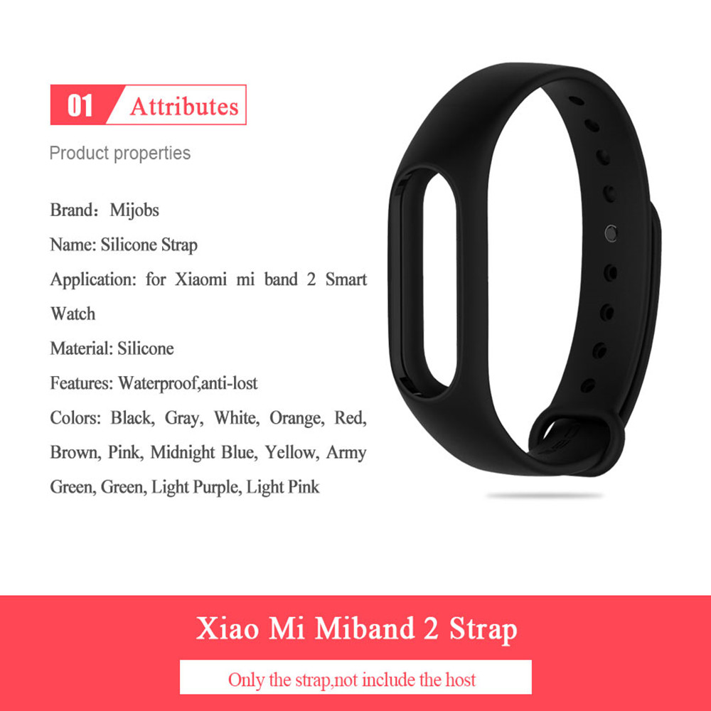 Mijobs Bracelet For Xiaomi Mi Band 2 Strap Silicone Wrist Strap For Miband 2 Correa Smart Accessories Mi Band 2 Bracelet Strap