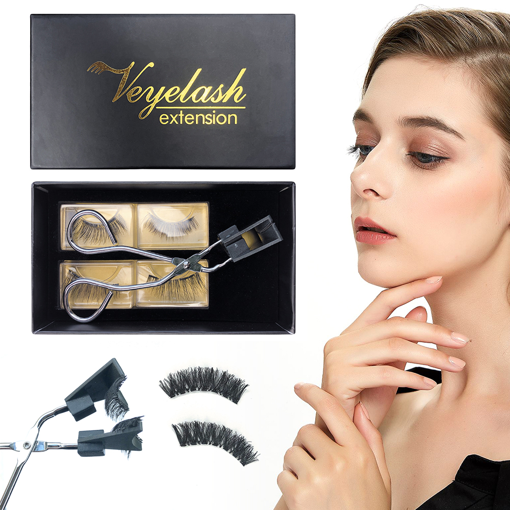 Veyelash Magnetic Eyelash Curler Quantum Soft Magnetic False Eyelashes Set Easy To Wear Magnetic Lashes Set Eyelash Extension