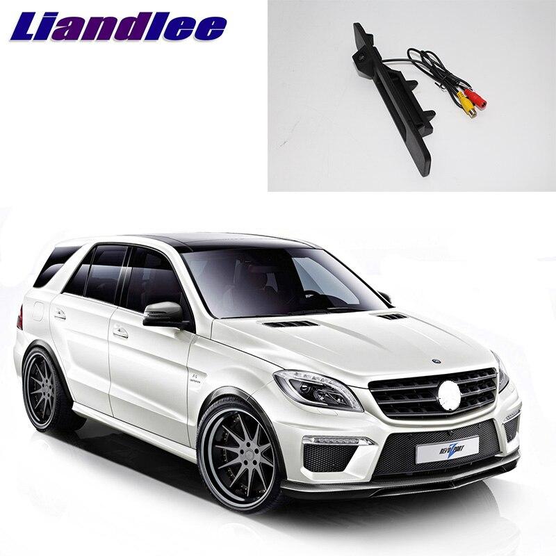 LiandLee voiture coffre poignée vue arrière caméra de recul pour Mercedes Benz ML classe MB W166 2011 ~ 2018