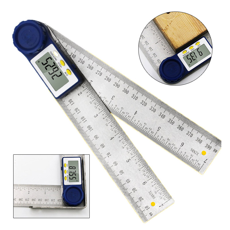 0-200mm 8/'/' Digital Angle finder Ruler Electron Protractor Measuring Tool 360°