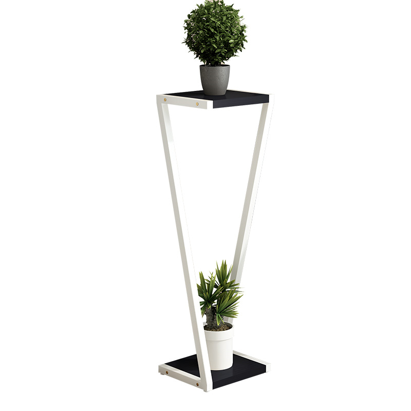 Creative modern flower stand living room multi storey indoor special home green frame floor standing flower frame wrought iron|Plant Shelves| |  - title=
