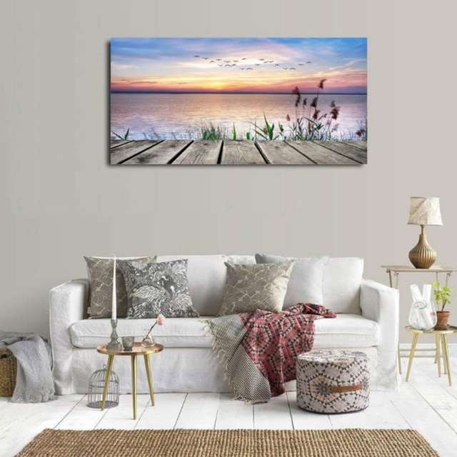 Seascape Beach Pictures Printed Canvas Paintings Wall Art Decor Poster Artwork For Bedroom Living Room Home Decor