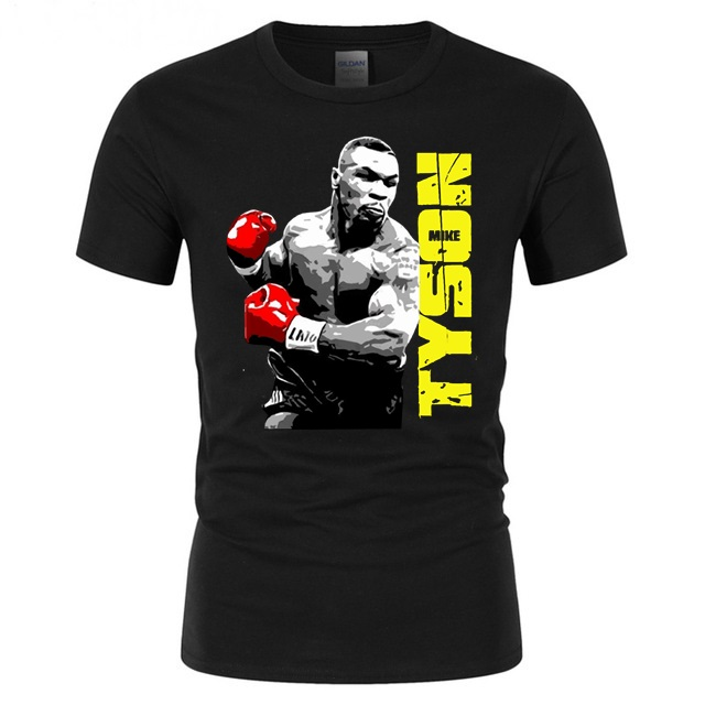 Men Short Sleeve Tops Tee Mike Tyson Poster Printed T-shirts Gyms Workout Mens Tshirt Surfing T Shirt Youth Hipster Topshirts