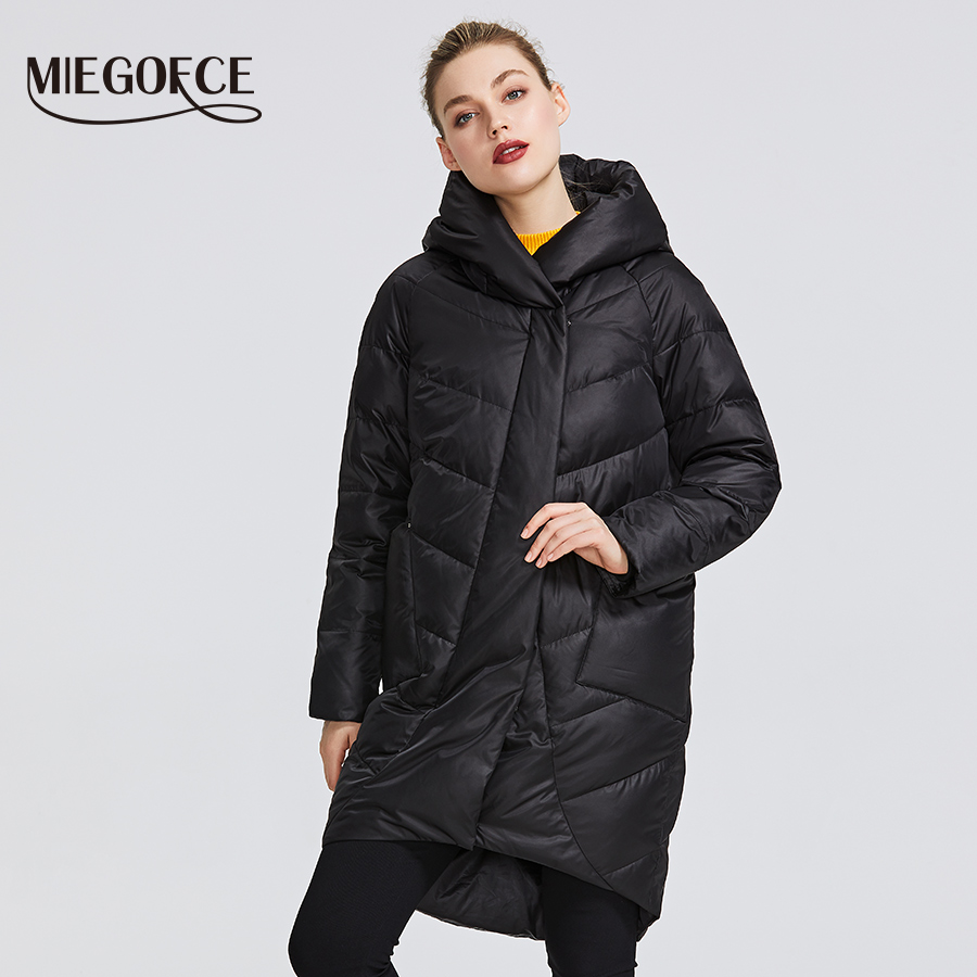MIEGOFCE 2019 Winter Jacket Women's Collection Warm Jacket With Unusual Design and Colors Winter Coats Gives Charm and Elegance